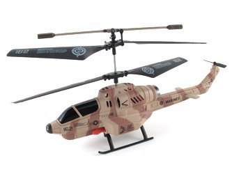 Combat Fighter New 3.5 Channel Missile Launching Helicopter (Camouflage Design) with Mini Tool Box (fs)