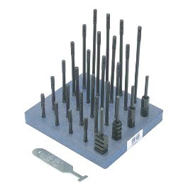 NORTHWESTERN 40014 7/8''-9 THREAD SIZE: 38 PIECE T-NUT AND STUD SET 1'' TABLE SLOT