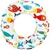 24 Inch Inflatable Swim Ring - Blow Up Floating Tube Raft Tube For Swimming Pool Beach For Age 6 To 10 Years