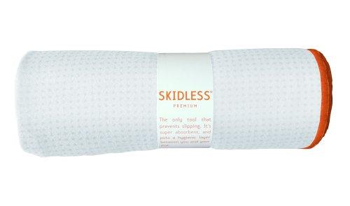 Yogitoes Skidless Premium Mat Size Yoga Towel White