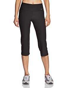 Nike Women's Legend 2.0 Slim Poly 3/4 Length Pant - Black/Cool Grey, X-Small