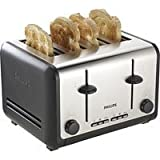 Philips HD2647 4-Slice Stainless Steel Toaster - Black