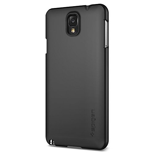 Spigen Ultra Fit Galaxy Note 3 Case with Rubbery Fell Non Slip Grip Matte for Galaxy Note 3 - Smooth Black (Note 3 Case Spigen compare prices)
