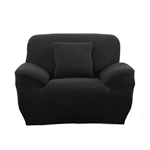 Spandex Stretch Single Sofa Couch Seat Cover Slipcover Case Home Decor - Black, 90-140cm (Single Seat Sofa compare prices)