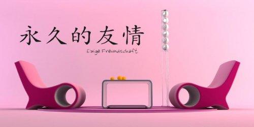 bilderdepot24 wandtattoo chinesische zeichen ewige freundschaft qualit tsware direkt vom. Black Bedroom Furniture Sets. Home Design Ideas