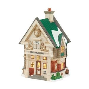 Department 56 Dickens Village Ewart Public Library Lit House