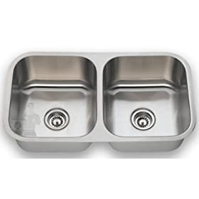 Undermount Stainless Steel Double Bowl Kitchen Sink