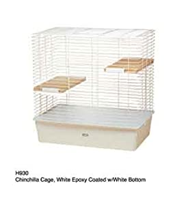 Hagen Chinchilla Cage, White Epoxy Coated with White Bottom