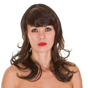 SALE Farrah Wig | Brown with Copper Highlights | Face Framing | 70's Retro Hairstyle Charlies Angels Inspired