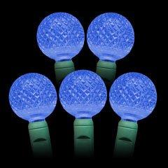 Blue G25 Led Christmas Lights 25Ft. - G25 Blue Globe Light Strings