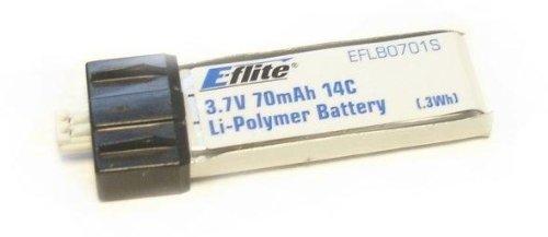 70mAh 1S 3.7V 14C LiPo Battery