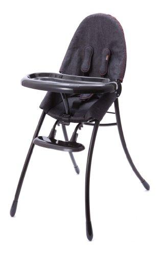 Bloom Nano Urban Highchair, Matt Black/Downtown Denim - 1