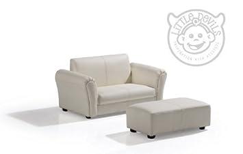 Crema PU Lazybones Kids Twin divano sedia/sedia/poltrona/divano per bambini/bambini