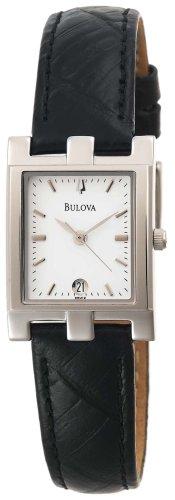 Bulova Women's Women's Strap 96M19 Leather Quartz Watch with White Dial
