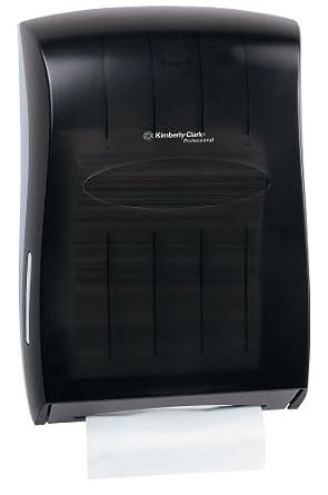"Kimberly-Clark 09903 Scottfold Folded Towel Dispenser, 13.3"" Width x 18.9"" Height x 5.9"" Depth, Smoke"