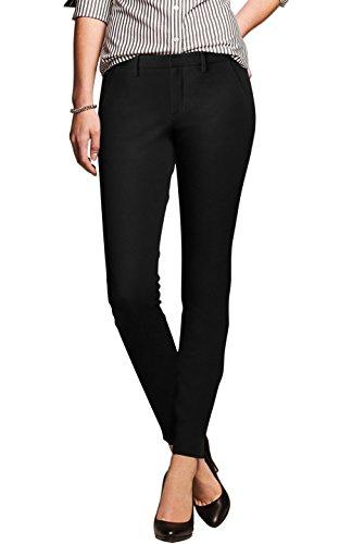 BodiLove Women's Tapered Cut Performance Formal Dress Pants