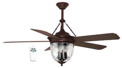 Litex E-KM52ABZ5CMR Knightsbridge Collection 52-Inch Ceiling Fan, Aged Bronze Finish with Special Aged Bronze ABS Blades
