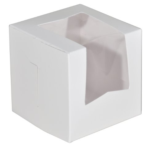 Southern Champion Tray 23033 Paperboard White Lock Corner Window Bakery Box, 4