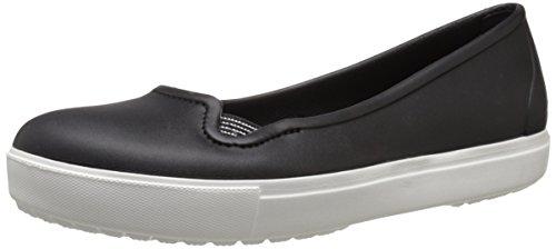 crocs CitiLane Flat W Blk/Whi - Ballerine Donna, Nero (Black/White 066), 39/40 EU