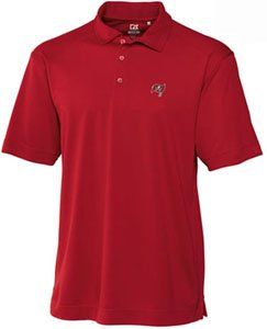Tampa Bay Buccaneers Mens Drytec Genre Polo Cardinal Red by Cutter & Buck