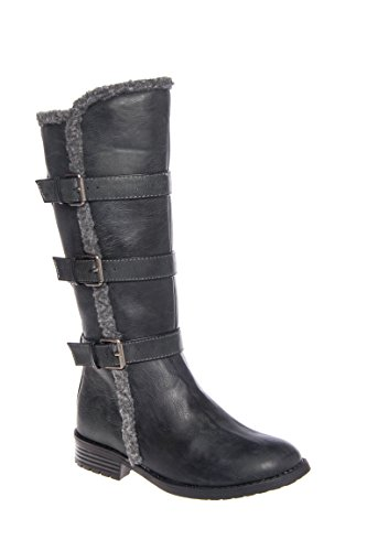 Girl's Ba Ba Shearling Low Heel Boot