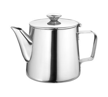 Stainless Steel Gooseneck Tea Pot With Hinged Lid, 21 Oz. 1 Each