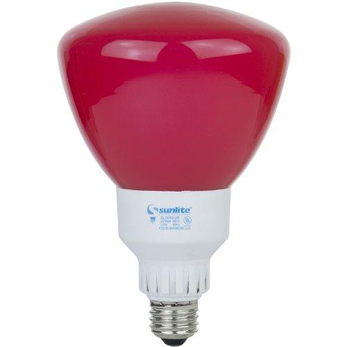 Sunlite SL25R40/R 25 Watt R40 Reflector Energy Saving CFL Light Bulb Medium Base Red (R Type Bulb 25 Watt compare prices)