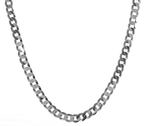 """925 Sterling Silver Gents Curb Chain - 26"""", 24 Grams"""