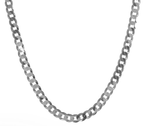 925 Sterling Silver Men curb Chain - 22 inch, 10 Grams