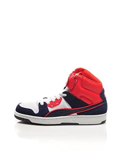 PUMA Sneaker Alta Rebound Street Cv [Bianco/Viola/Grigio]