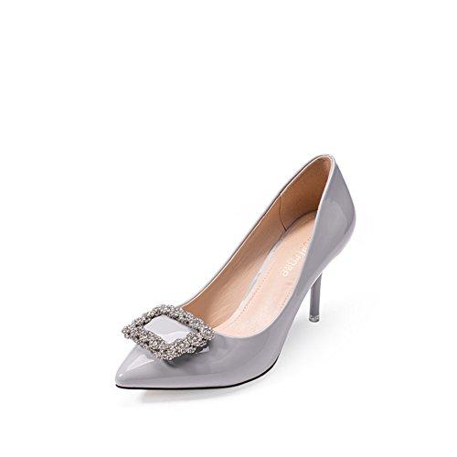 Chaussures d'été/Version coréenne occasionnelle du diamant à pointe souliers pour dames pâle des/Talons aiguilles