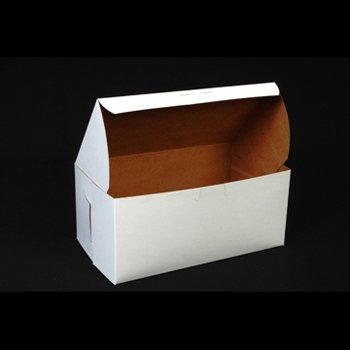Lot of 25 Bakery or Cake Box WHITE 9x5x4