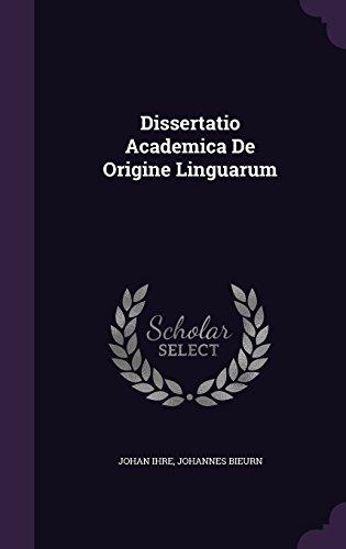 Dissertatio Academica De Origine Linguarum