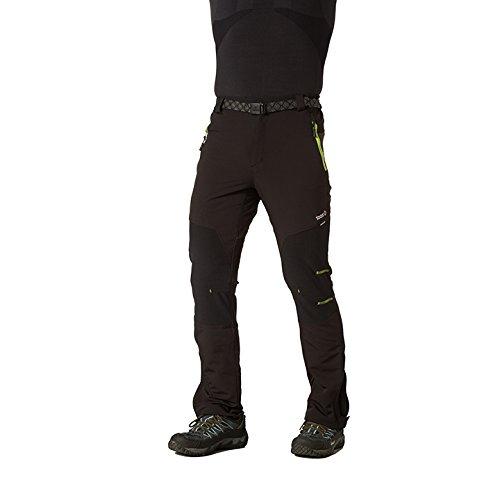 Izas Aletch - Pantaloni da trekking da uomo, UOMO, Aletch, Negro / Gris oscuro / Lima, XL