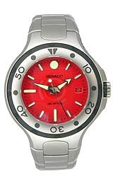 Movado Series 800 Sport Bracelet Red Dial Men's Watch #2600008