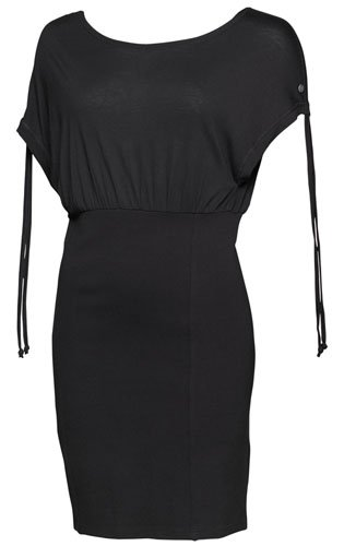Bench Womens Slim Jim Jersey Dress Black Medium