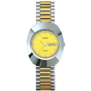 Rado Quartz, Two Tone Stainless Band Yellow Dial - Men's Watch R12391633
