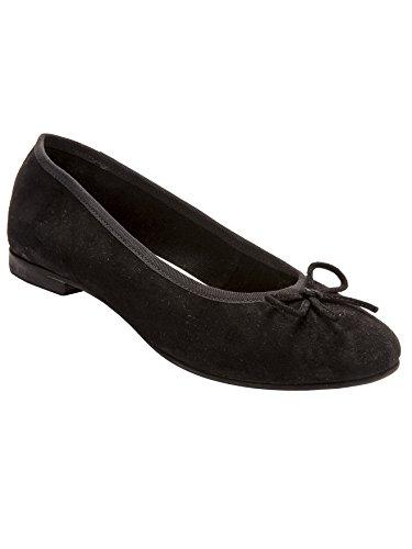 Balsamik - Ballerine piatte pelle vellutata, larghezza comfort - - Size : 38 - Colour : Nero