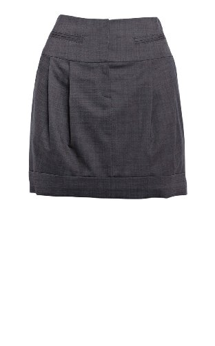 Grey Wool Mini Skirt