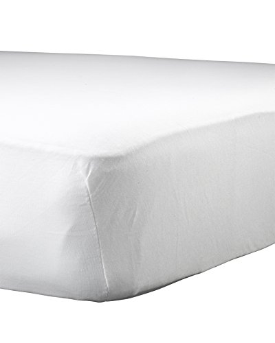"Abstract Baby Solid Jersey Knit Fitted Crib Sheet (28"" x 52"", White)"