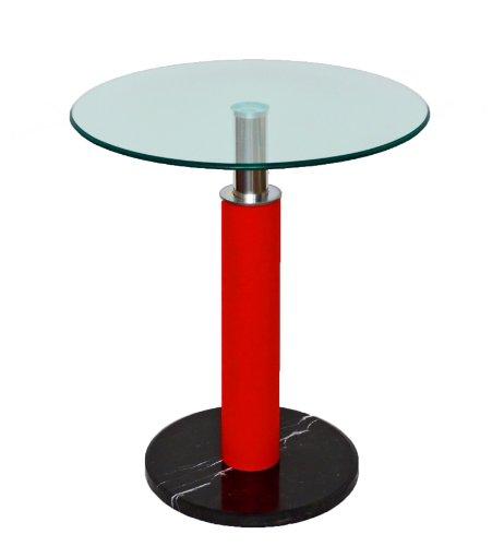 Glastisch-Rund-Beistelltisch-Bartisch-60-cm-Rund-Ecktisch-Schwarz-Rot-mit-10-mm-ESG-Sicherheitsglas