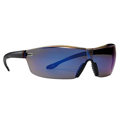 north tactile schutzbrille kunststoffbrille brille klar grau verspiegelt scheibe farbe blau. Black Bedroom Furniture Sets. Home Design Ideas