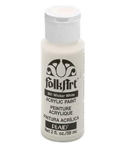 Folk Art 901 2-Ounce Acrylic Paint, Wicker White