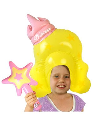 Bluw Inc Inflatable Princess Wig And Wand