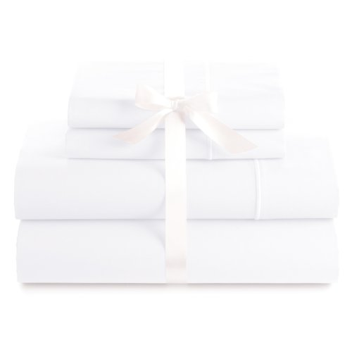 Cheapest Prices! 500 Thread Count 100% Egyptian Cotton Luxury Deep Pocket Sheet Set (Full, White)