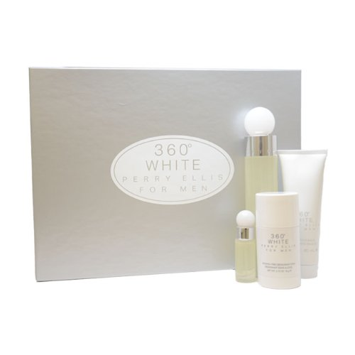 360 White by Perry Ellis for Men Gift Set