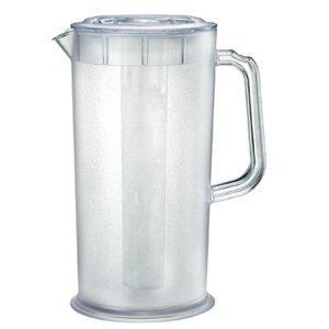 plastic ice tea juice pitcher w ice tube 66 fluid ounces. Black Bedroom Furniture Sets. Home Design Ideas