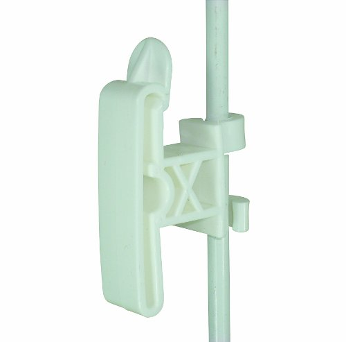 Field Guardian Round Post Clip-On 2-Inch Tape Insulator, 3/8-Inch, White