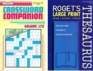 Crossword Companion Volume #175 & Roget's Large Print Thesaurus - 1