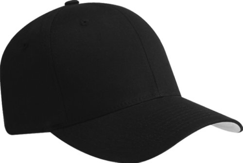 Premium Flexfit Cotton Twill Fitted Hat Black Large/X-Large